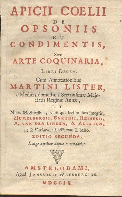 Página de una de las ediciones de 'De re coquinaria' de Apicio