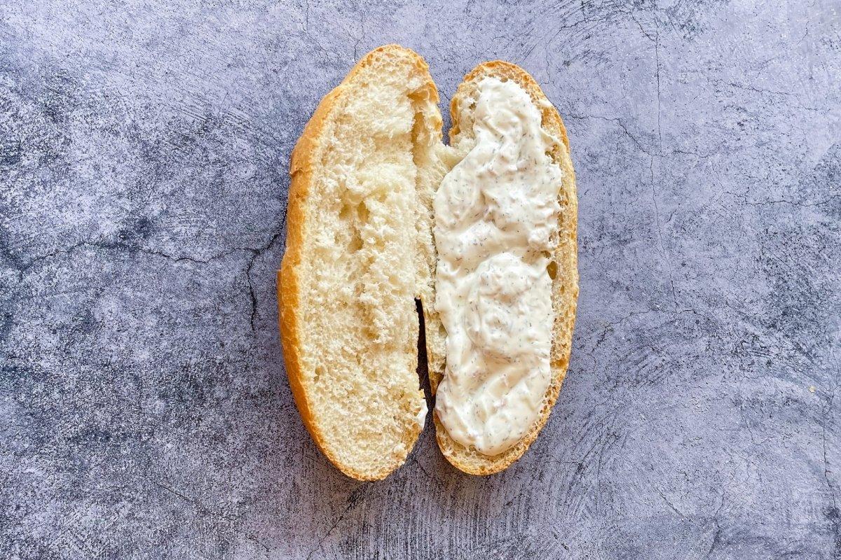 Pan con salsa para Po'boy