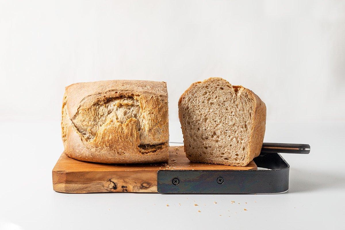 Pan de molde con masa madre final
