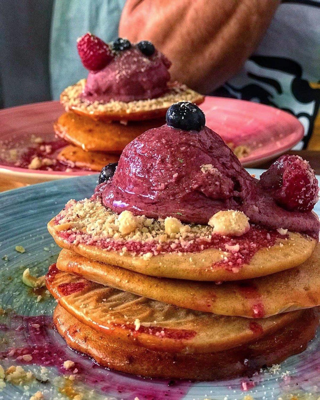 Pancakes con açaí