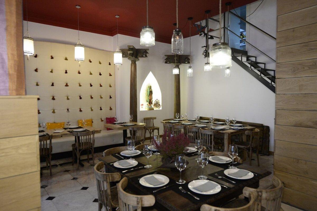 Parte de la sala del restaurante De Boca Madre