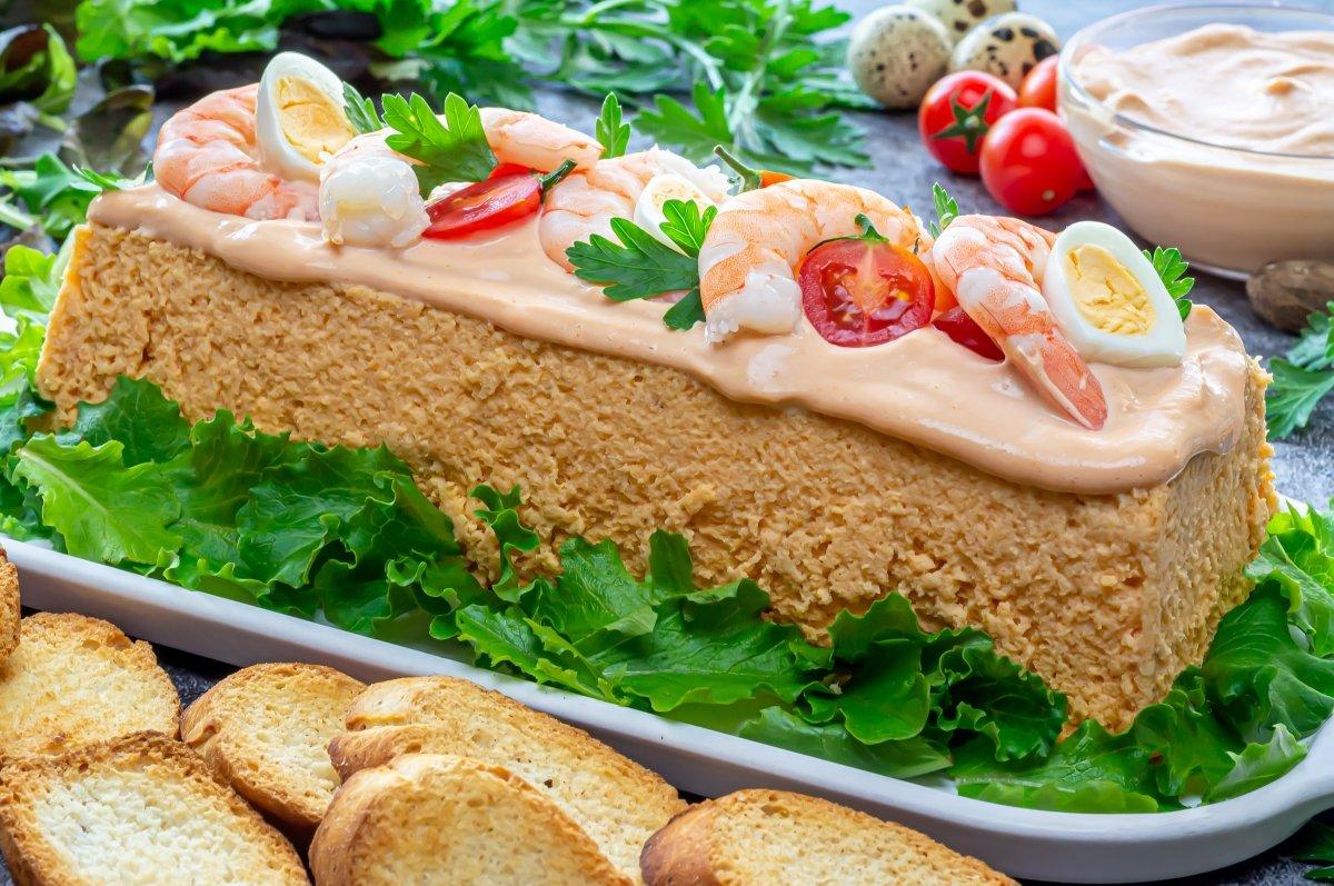Pastel de merluza y gambas (Pastel de pescado)