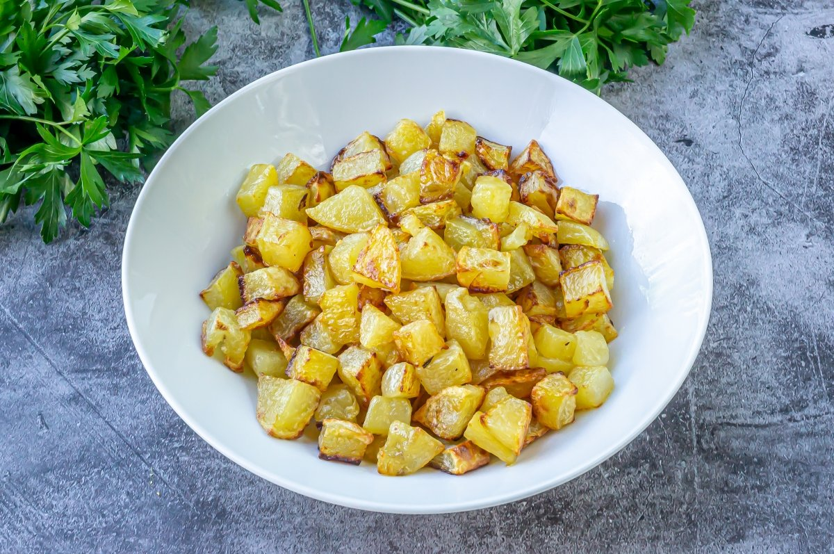 Patatas fritas para el bacalao con nata