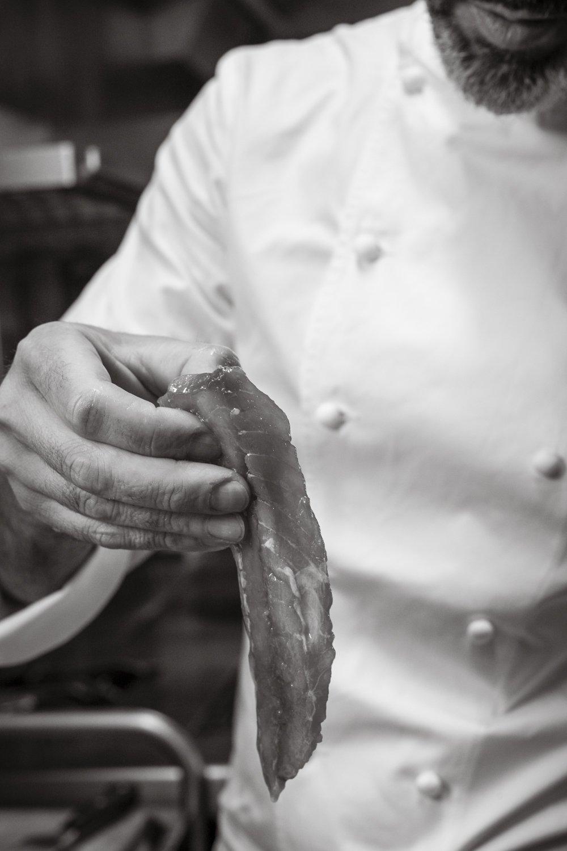 Pepe Solla cocinando en Casa Solla