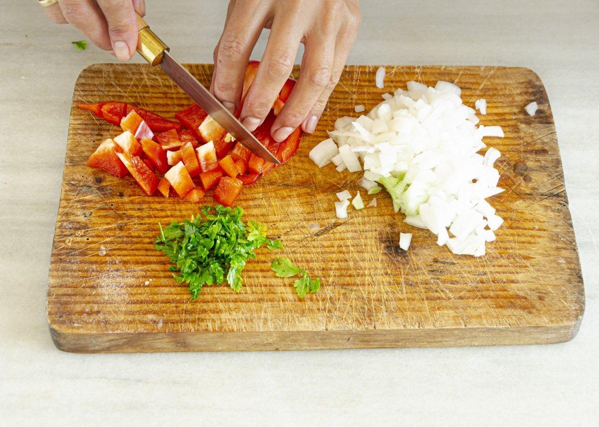Picando las verduras
