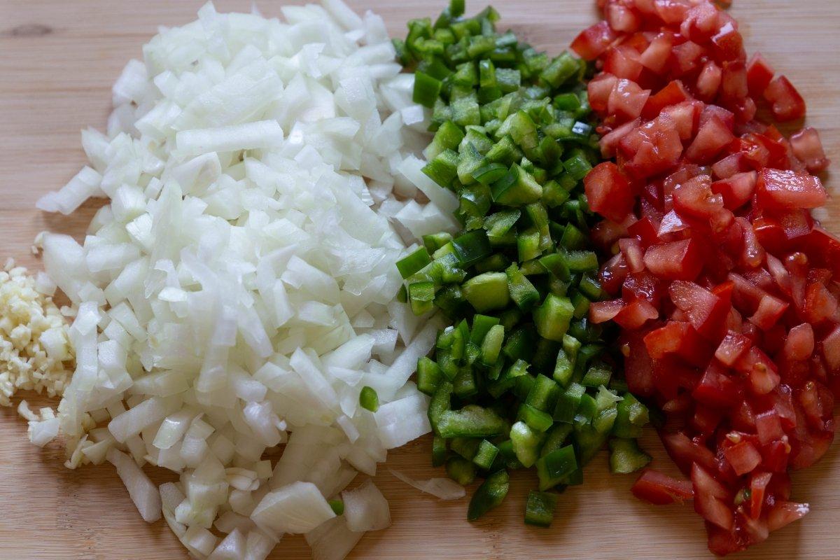 Picar las hortalizas