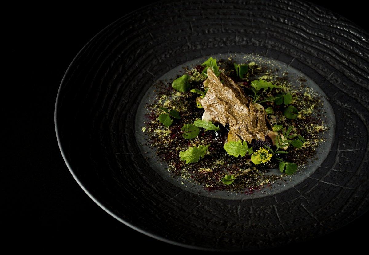 Plato 'Damping through the boroughgroves' del restaurante The Fat Duck