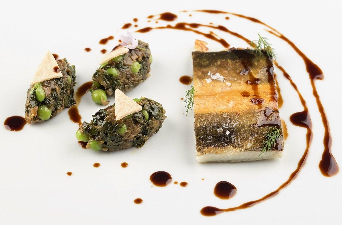 Plato de anguila del restaurante Argos