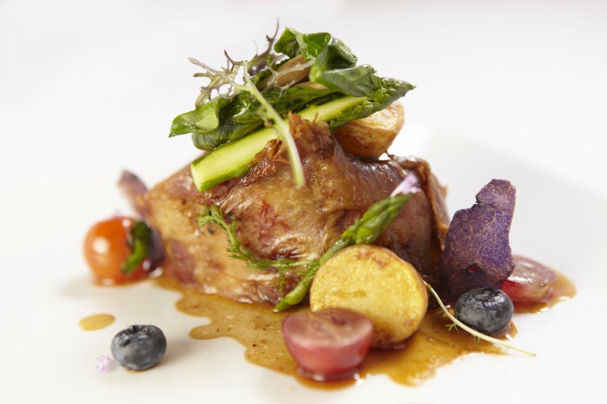 Plato de carne de restaurante Es Ventall