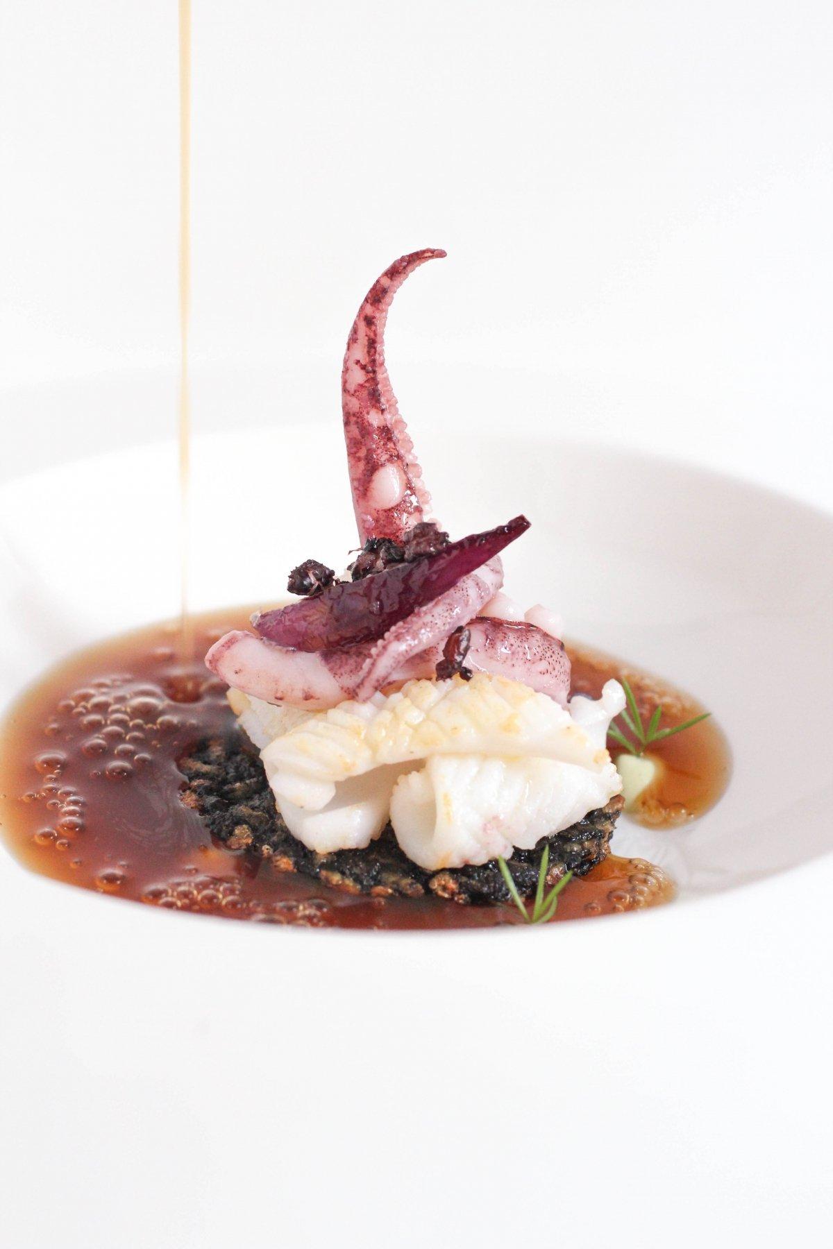 Plato de mar del restaurante Kokotxa