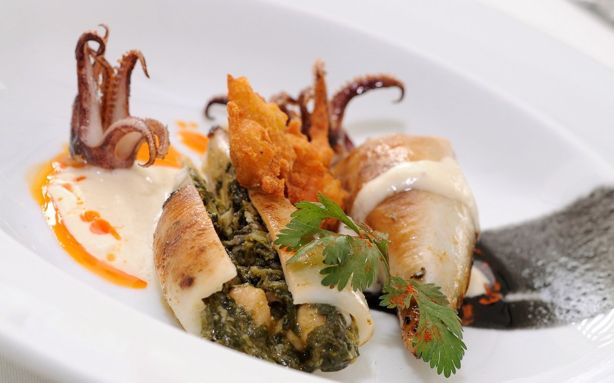 Plato de mar del restaurante Tribeca de Sevilla