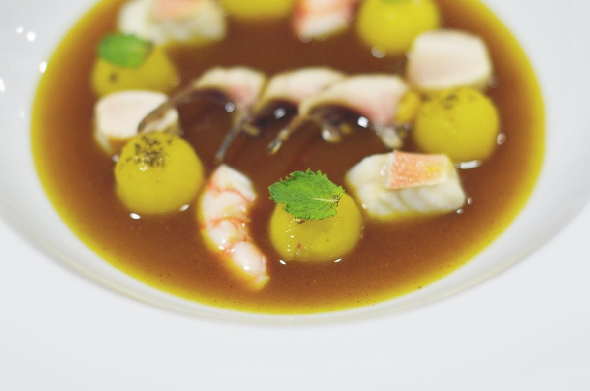Plato de pescado de Jesús Moral en el restaurante Taberna de Miguel