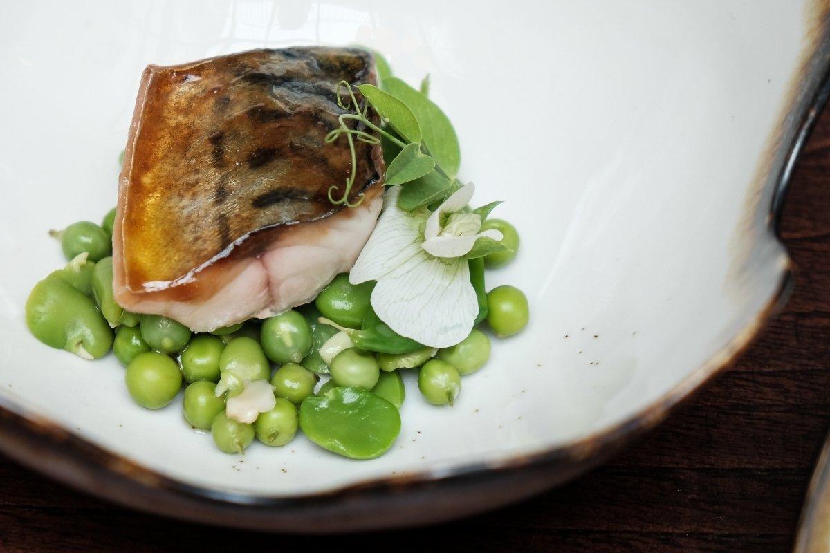 Plato de pescado del restaurante A Tafona