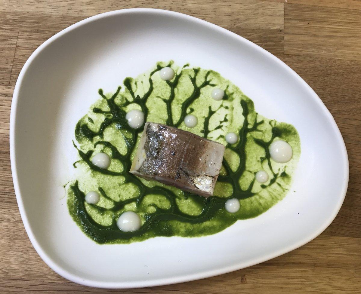 Plato de pescado del restaurante As Garzas