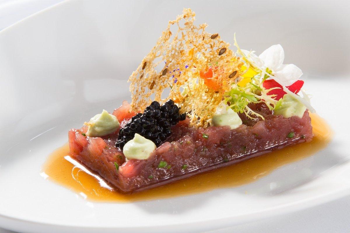 Plato de pescado del restaurante Zuberoa
