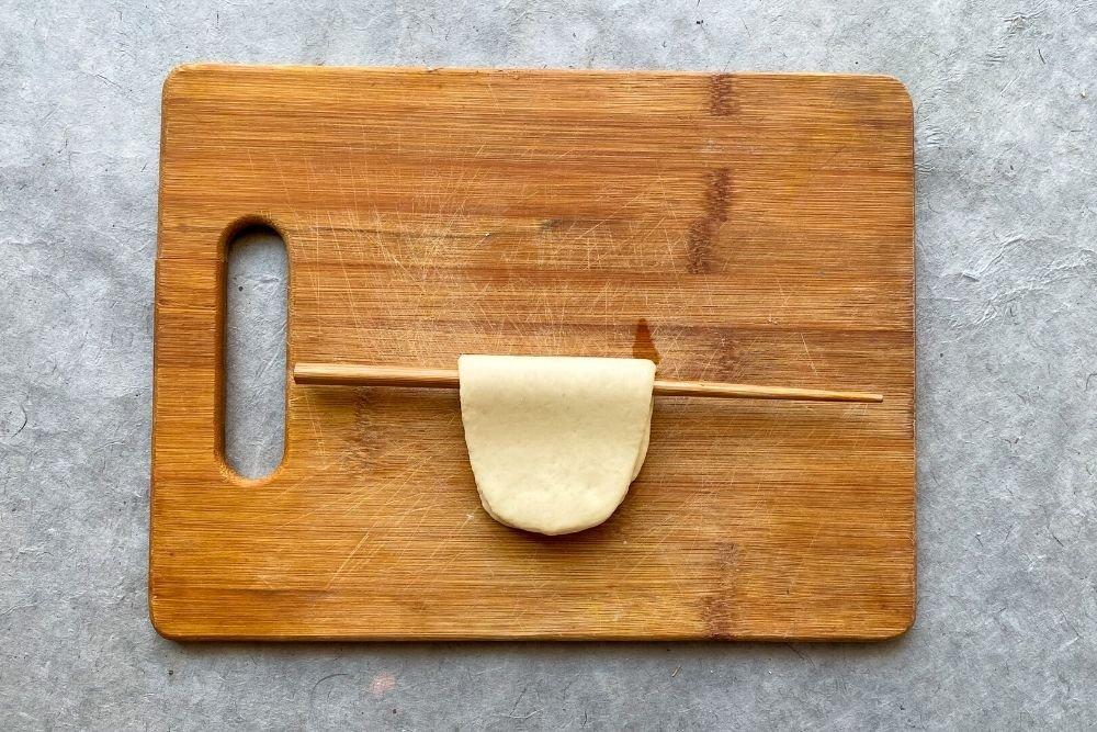 Plegado masa bao buns