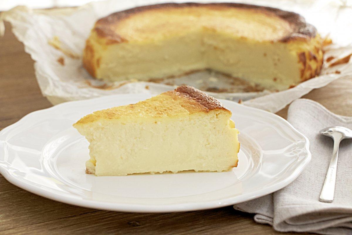 Porción de tarta de queso de La Viña
