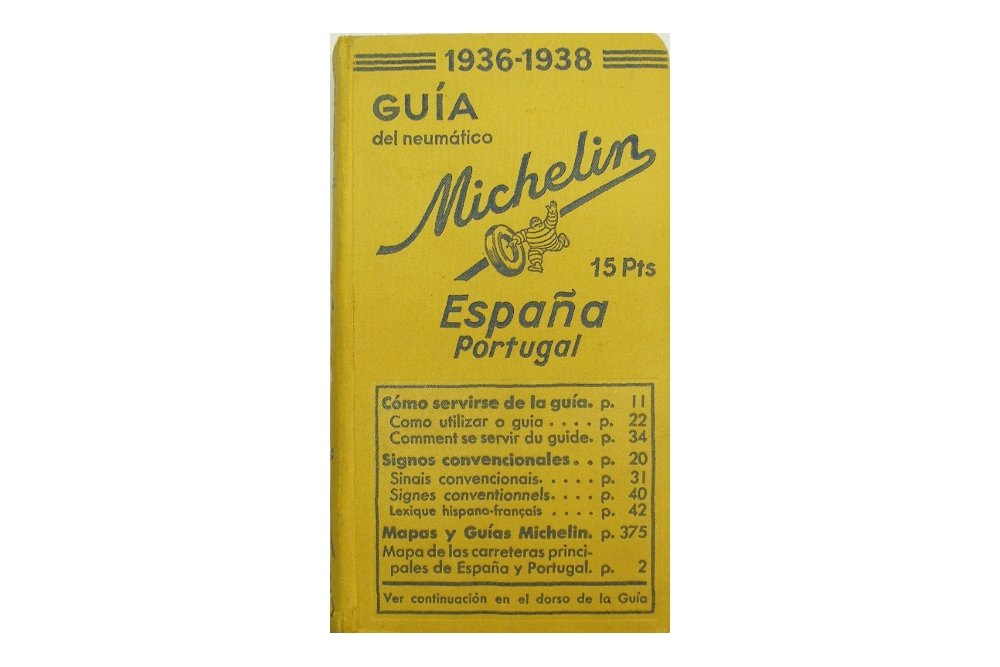 Portada de la guía Michelin España y Portugal de 1936-1938