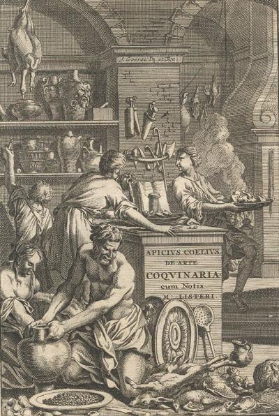 Portada de una edición del siglo XVIII del recetario de Marco Gavio Apicio