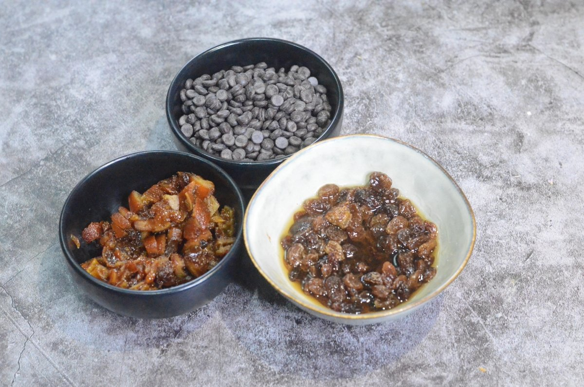 Preparados ingredientes del relleno