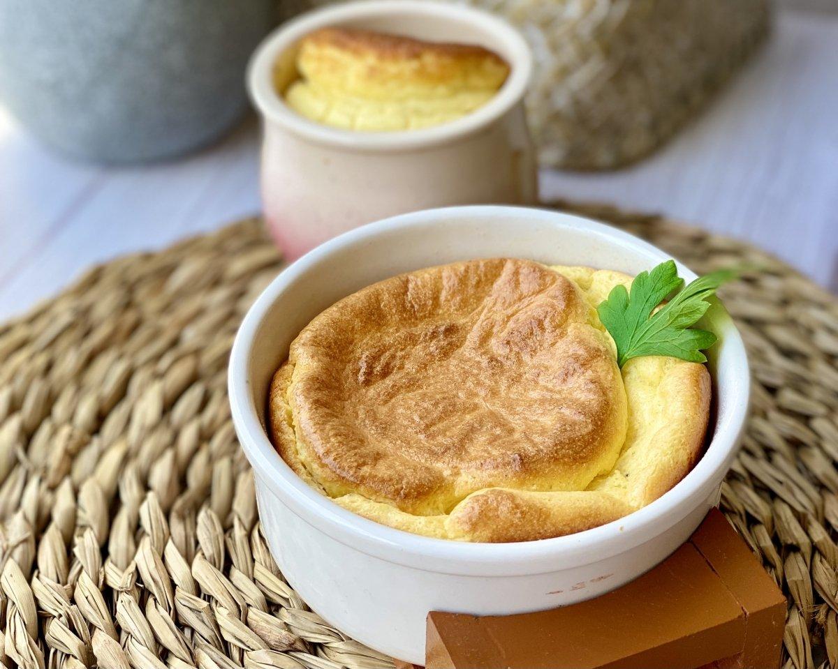 Presentación alternativa para el soufflé de queso