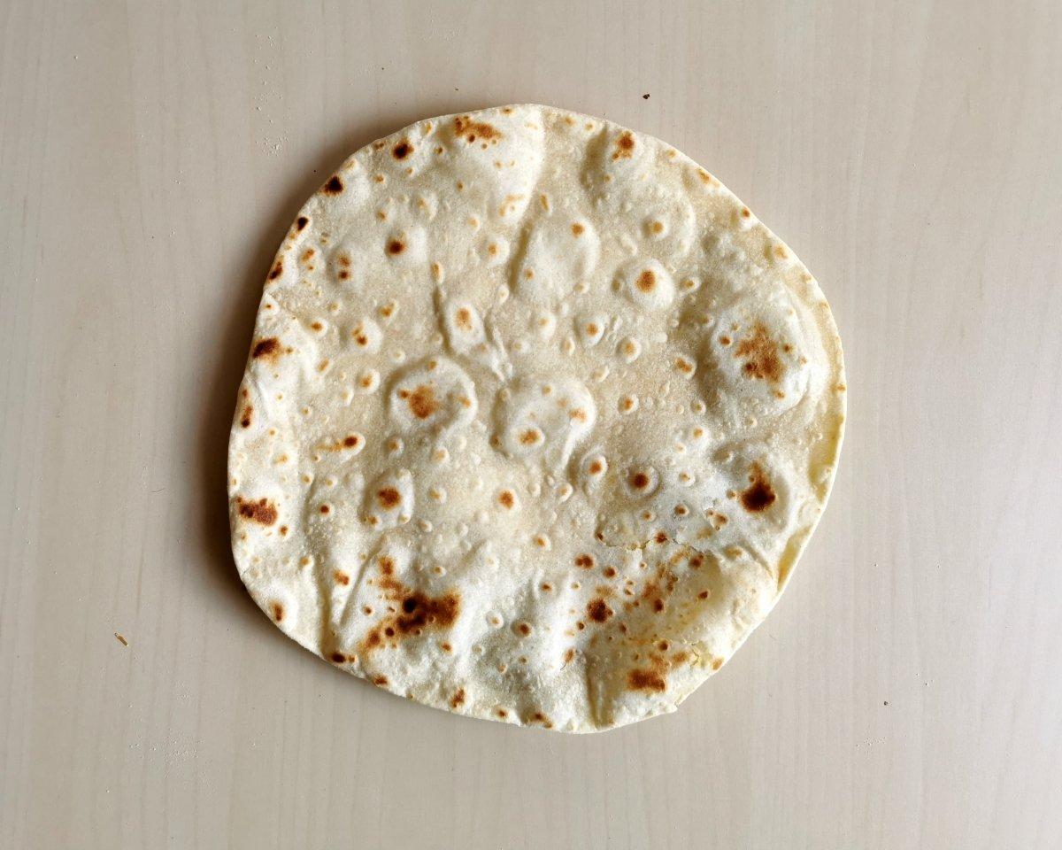 presentación de las tortillas mexicanas de trigo