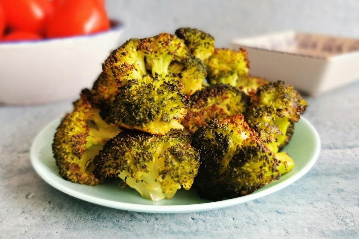 Presentación del brócoli al horno