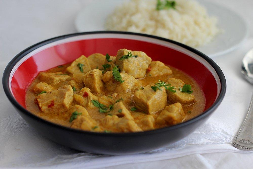 Presentación del lomo de cerdo al curry