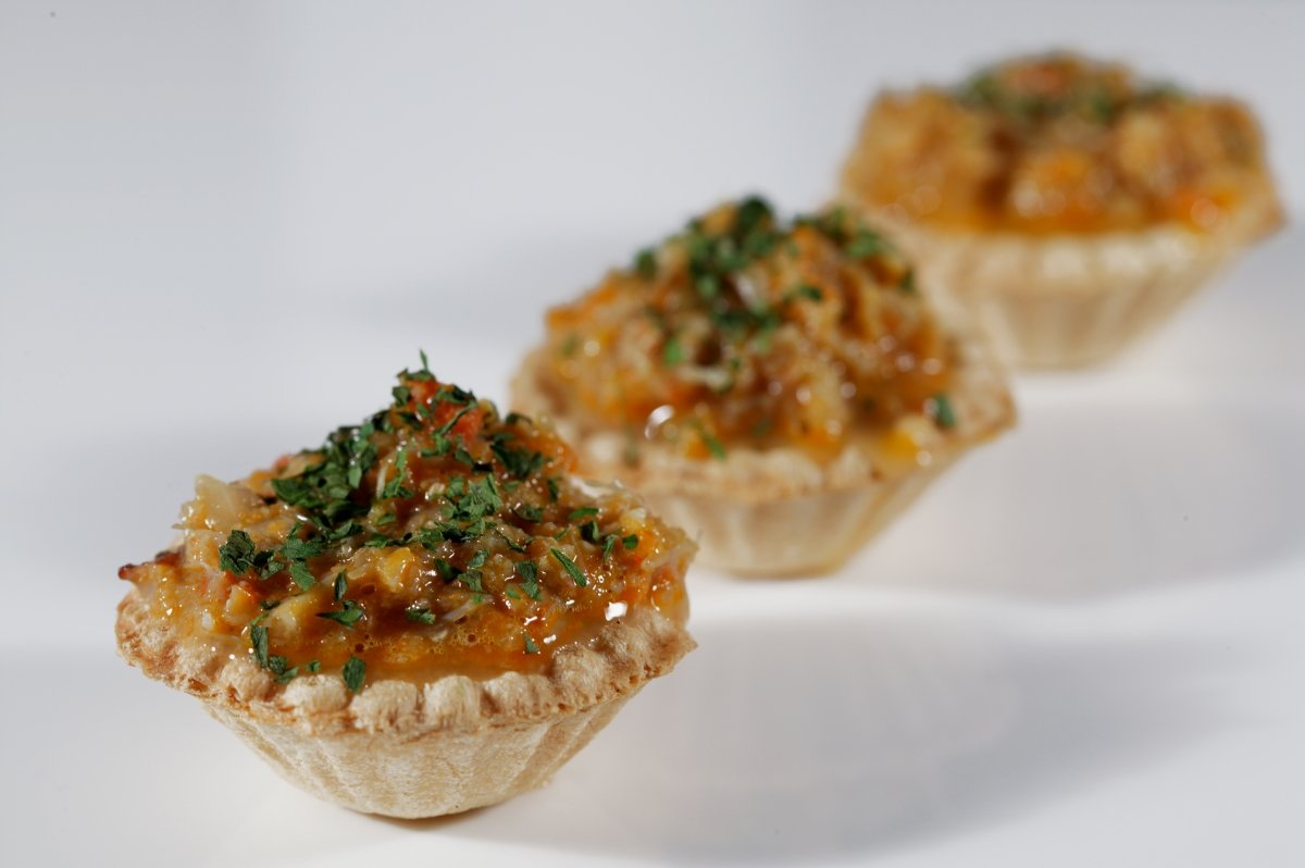 Presentación del 'txangurro' en el restaurante Ganbara