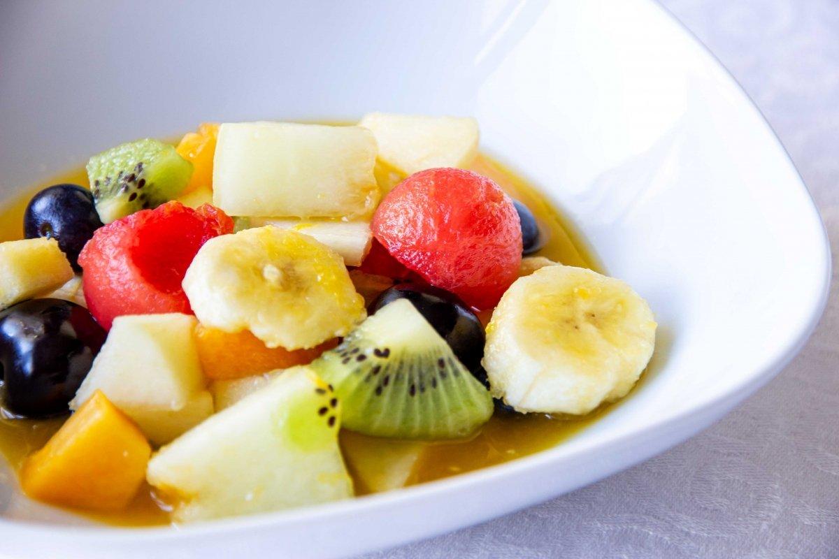 Presentación detalle de la macedonia de frutas