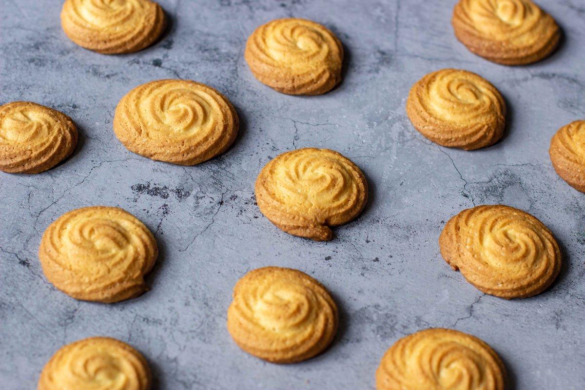Presentación final de las galletas de nata