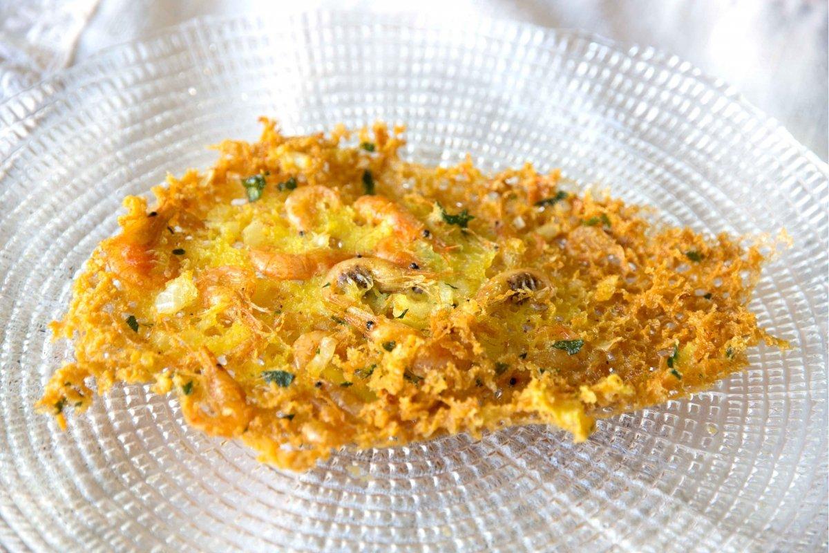 Presentación final de las tortillitas de camarones