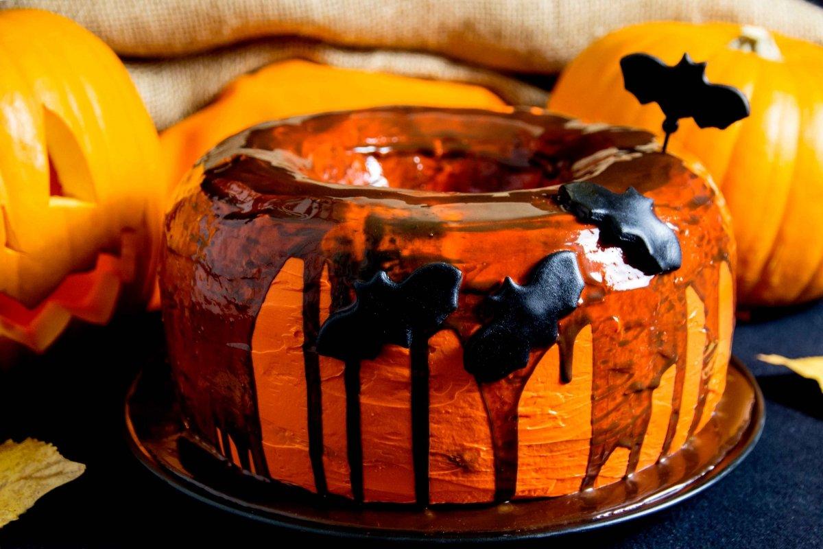 Presentación final del la tarta de calabaza