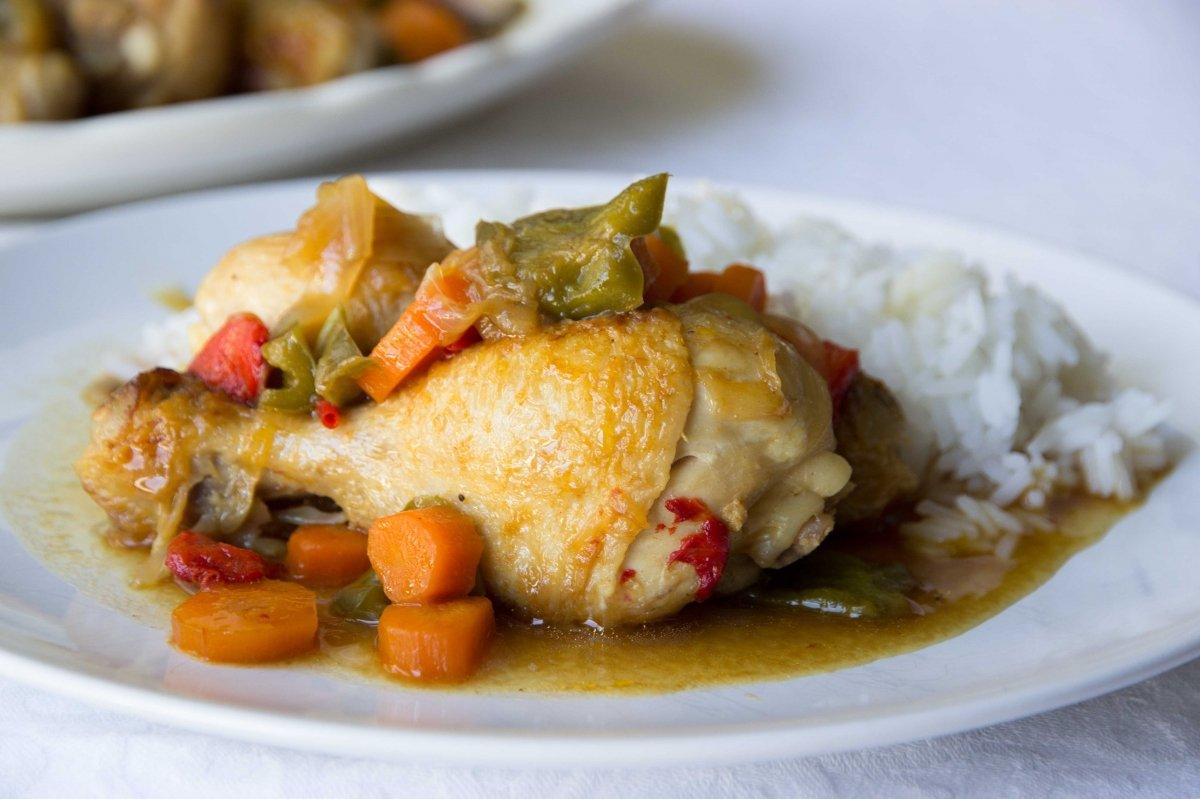 Pollo con salsa hoisin