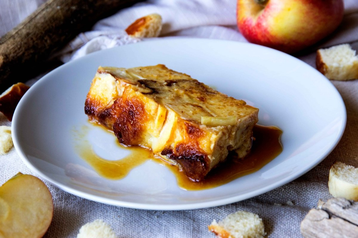 Pudin de manzana