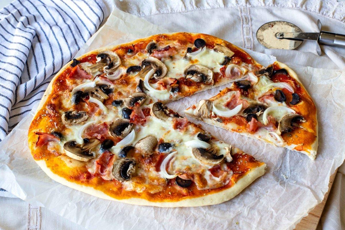 Presentación final extra de la pizza romana