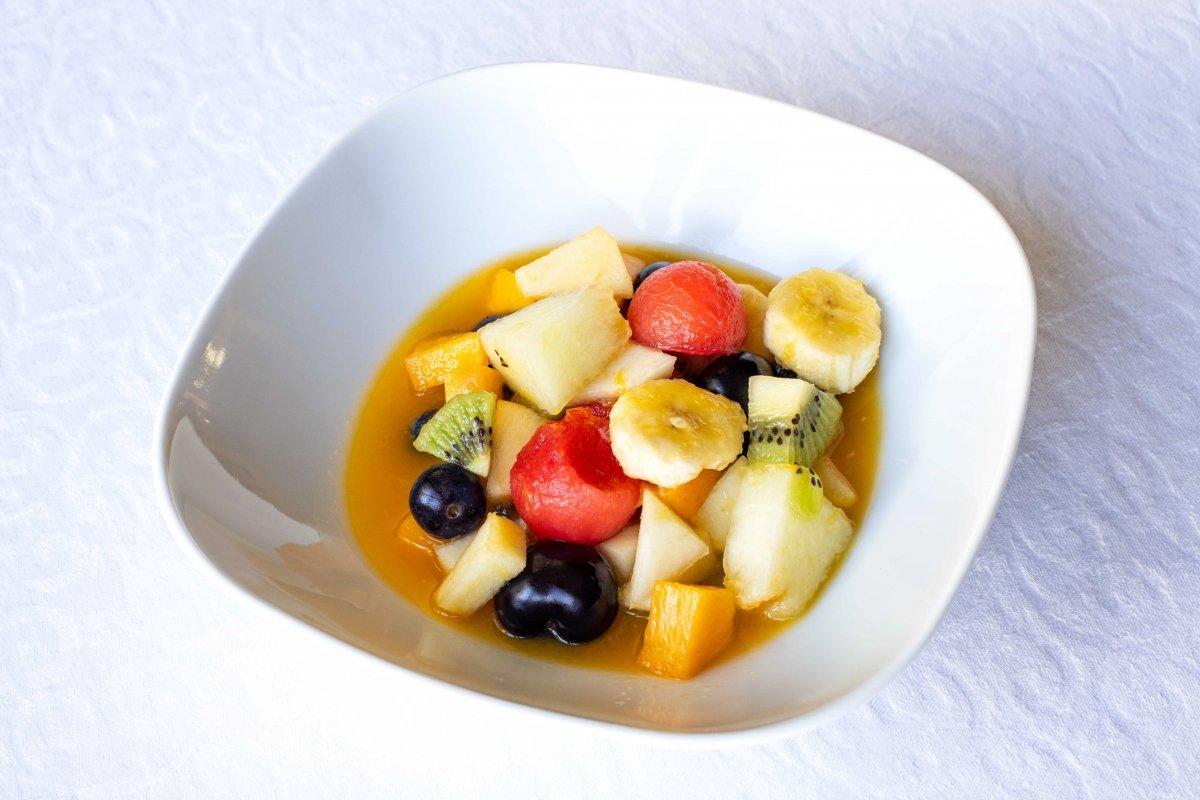 Presentación principal de la macedonia de frutas