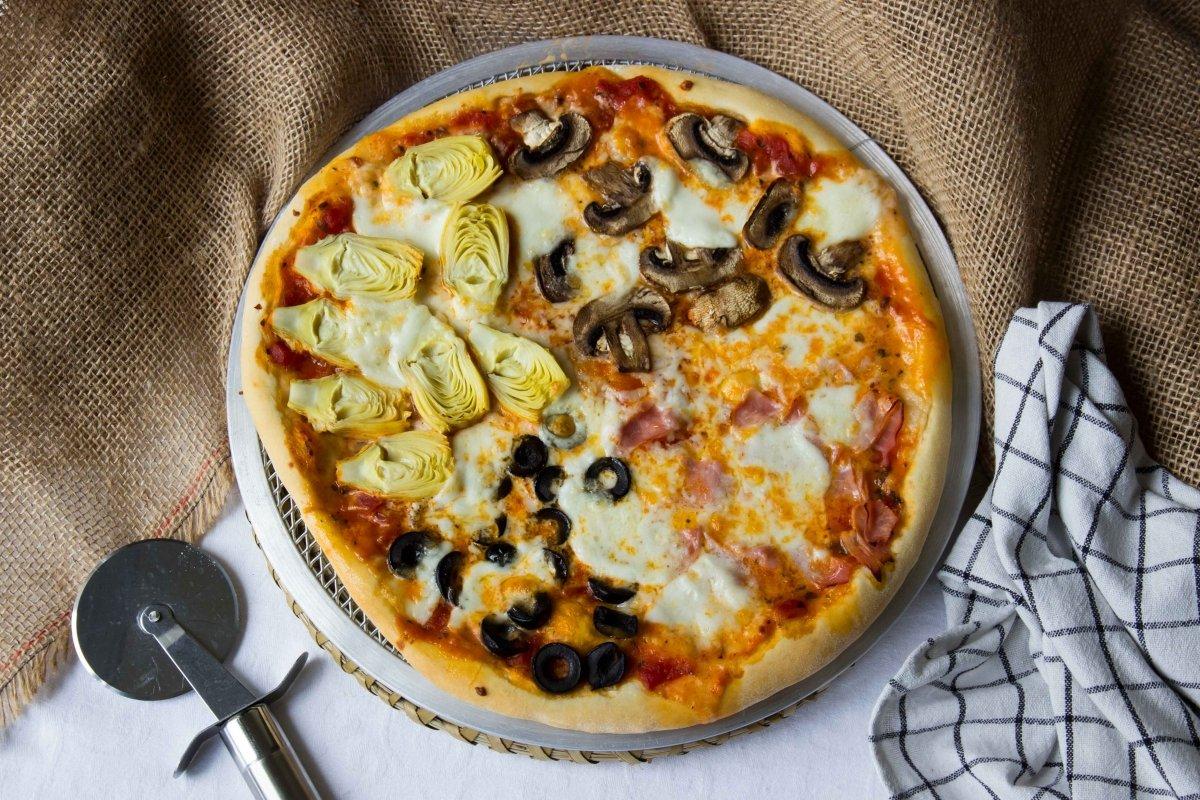 Presentacion principal de la pizza cuatro estaciones