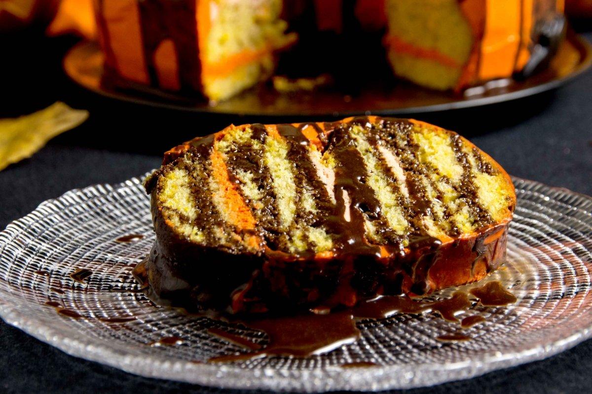 Presentación principal de la tarta de calabaza