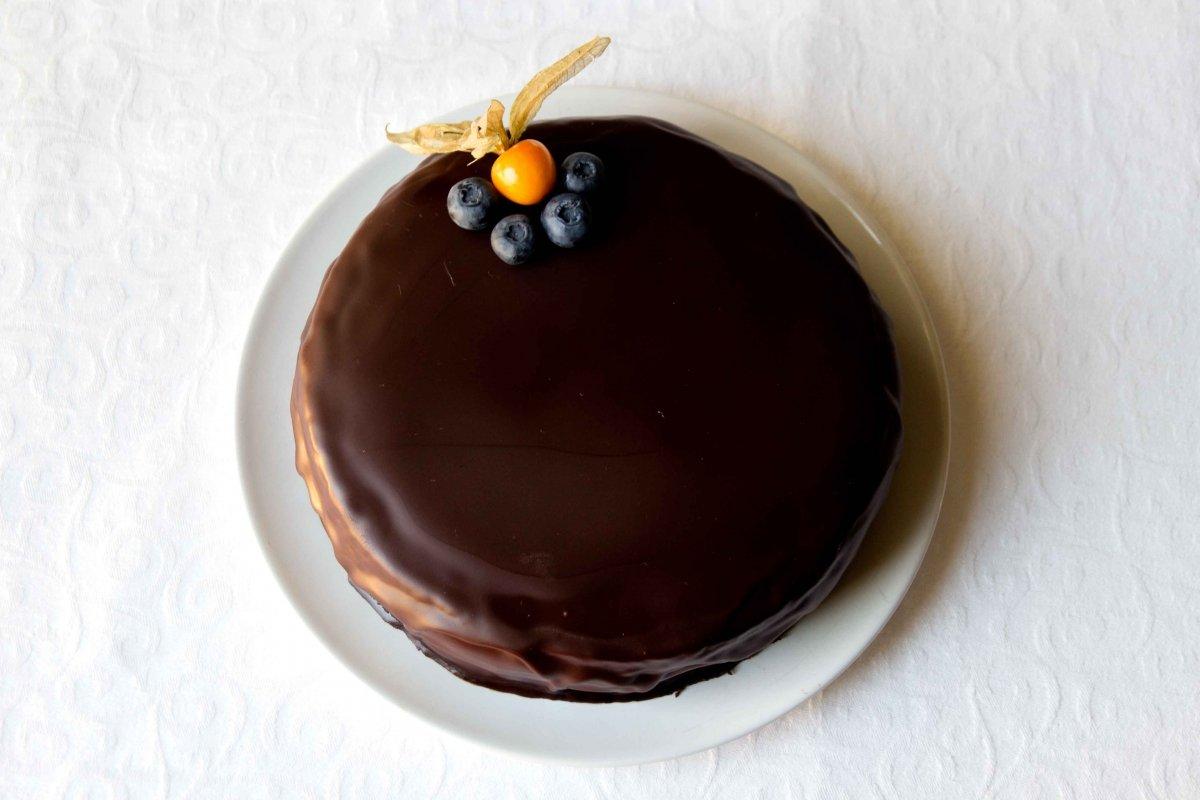 Presentación principal de la tarta Sacher