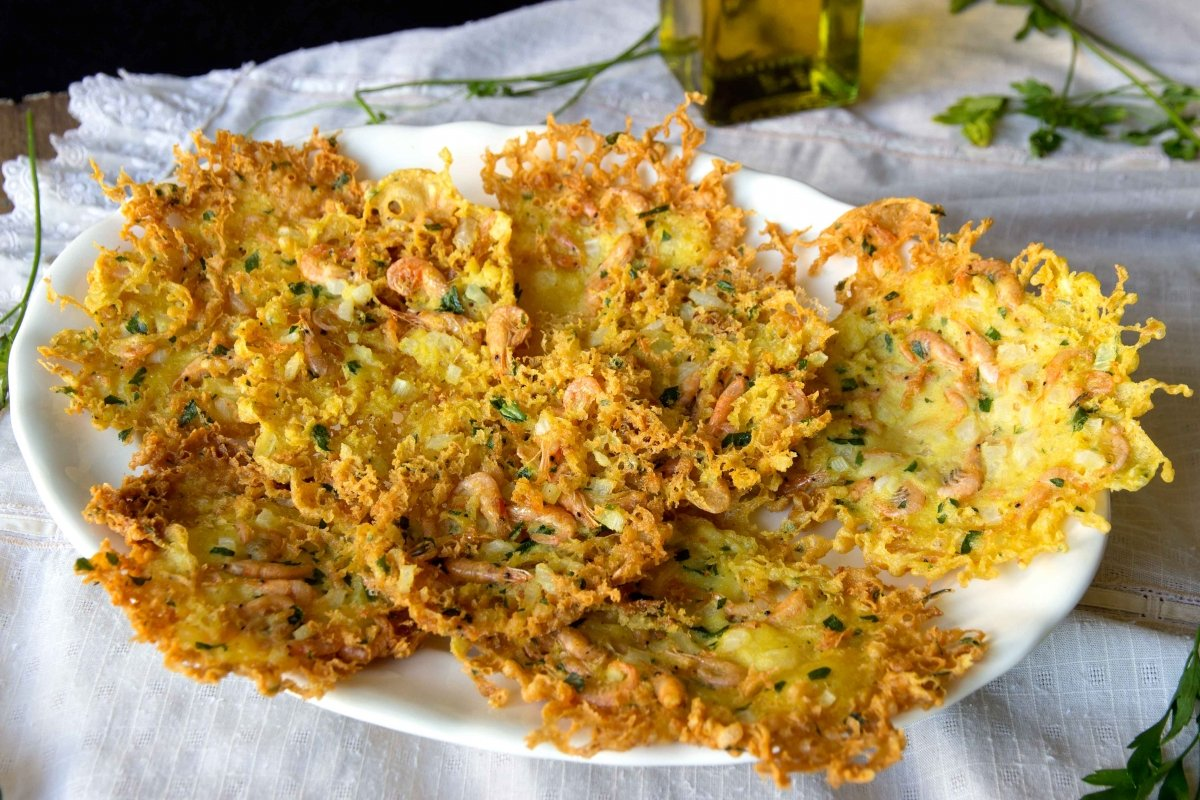 Presentación principal de la tortillitas de camarones