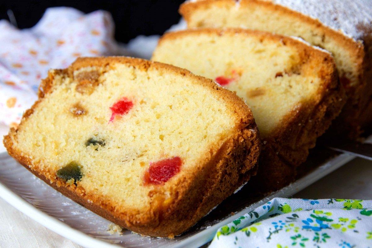 Plum cake clásico de tutti frutti