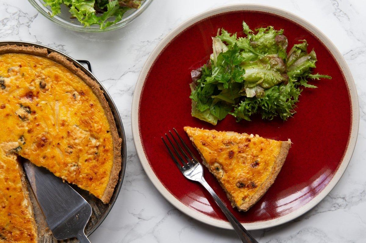 Quiche de calabaza y queso azul terminada