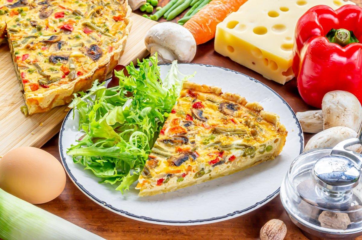 Quiche de verduras y queso