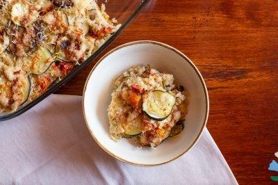 Quinoa al horno con queso y verduras