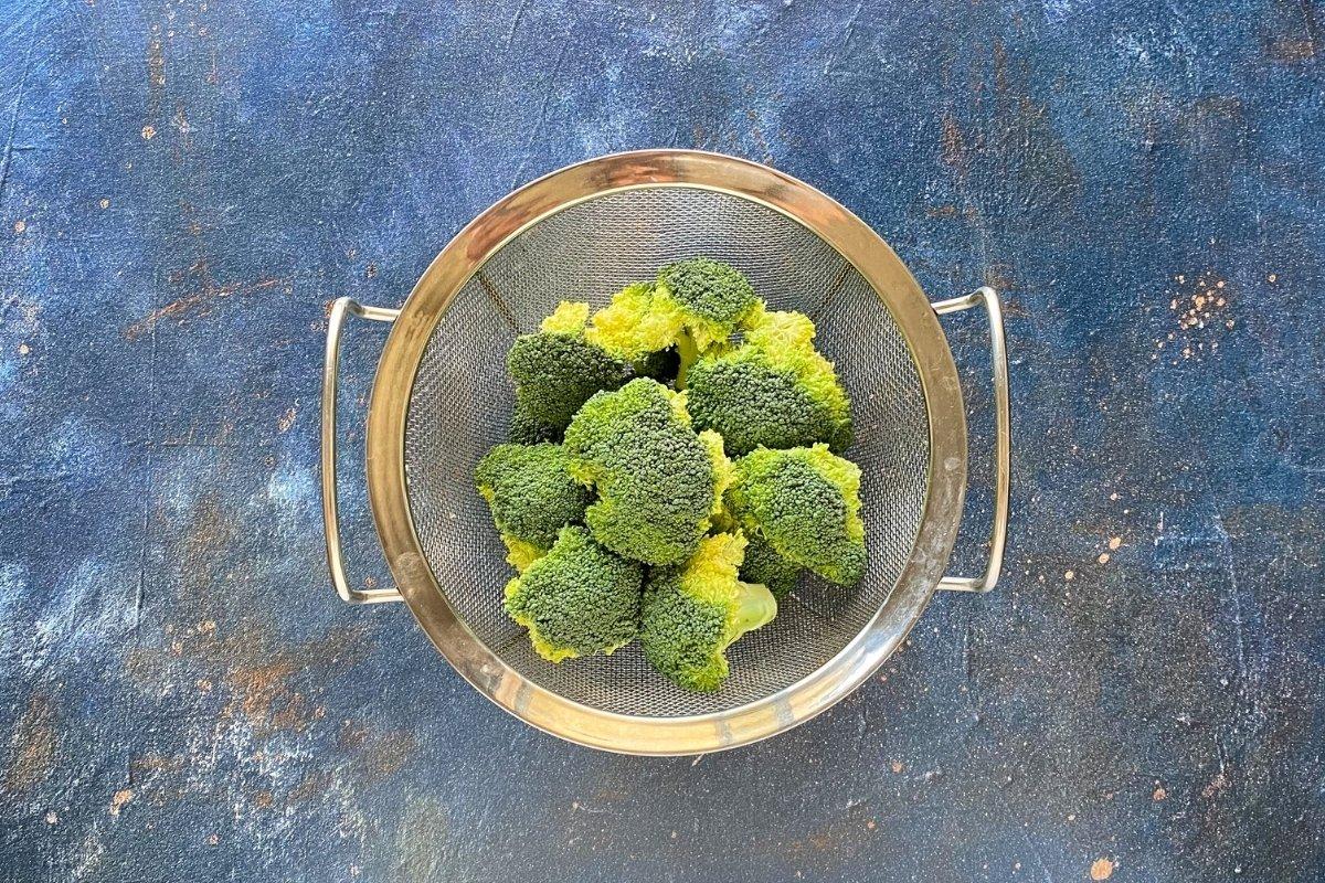 Ramilletes de brócolipara cocinar al vapor