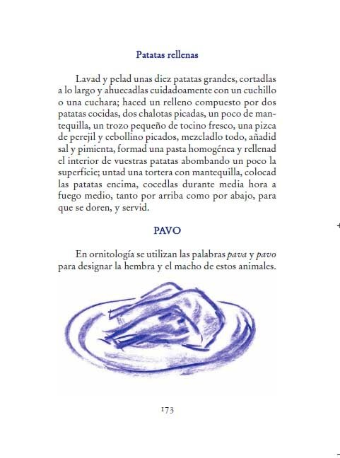 Receta de unas patatas rellenas y definición de pavo en el diccionario gastronómico de Dumas