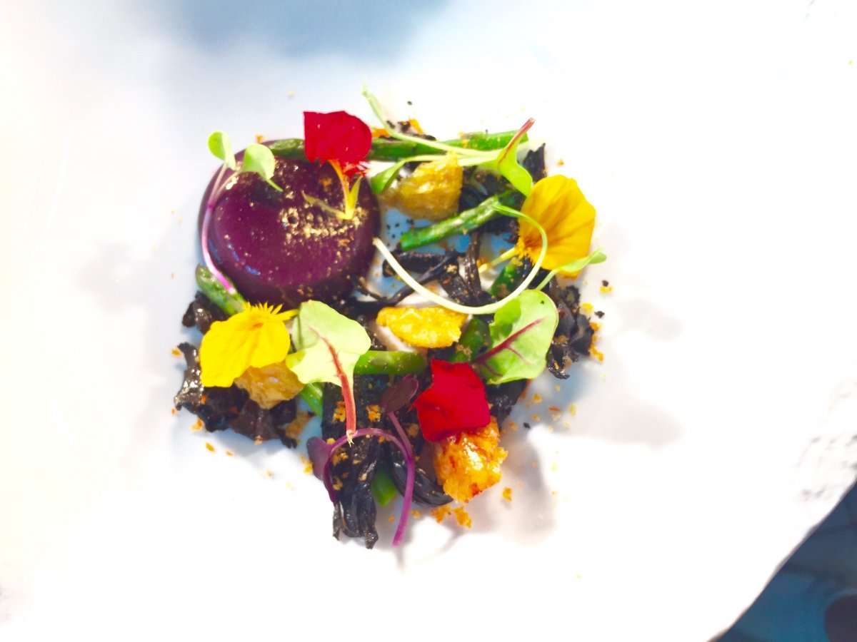 Receta vegetal de Adrián Quetglas Restaurant