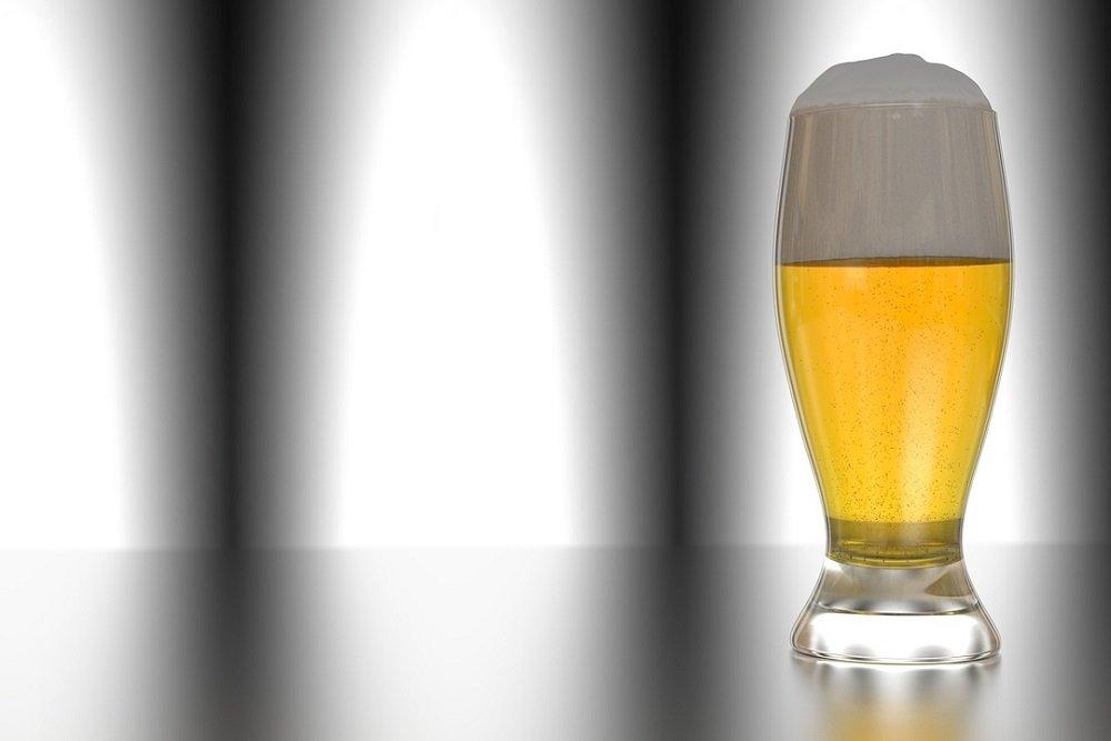 Representación artística de un vaso de cerveza rubia