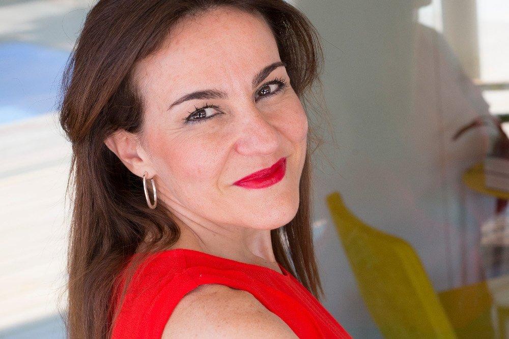 Elena Morales, disfrutando con el paladar
